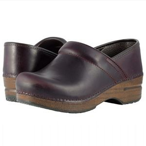 DANSKO Professional Distress Leather Clog Size 38